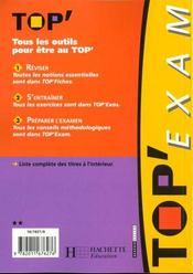 Top'Exam T.2 - 4ème de couverture - Format classique