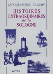 Histoires extraordinaires de la Sologne - Couverture - Format classique