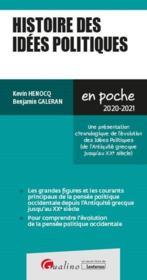 Histoire des idées politiques (édition 2020/2021) - Couverture - Format classique