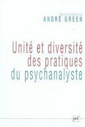 Unité et diversité des pratiques du psychanalyste - Intérieur - Format classique