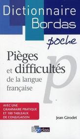 Dictionnaire Bordas poche ; pièges et difficultés de la langue française - Intérieur - Format classique
