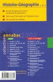 Annabac Sujets - Couverture - Format classique