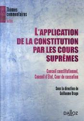 L'application de la constitution par les cours suprêmes - Intérieur - Format classique