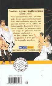 Contes et legendes mythologiques - 4ème de couverture - Format classique