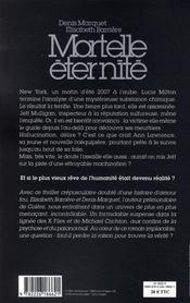Mortelle éternité - 4ème de couverture - Format classique