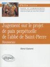 Jugement Sur Le Projet De Paix Perpetuelle De L'Abbe De Saint-Pierre Rousseau - Intérieur - Format classique