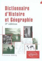Dictionnaire d'histoire et géographie (3e édition) - Intérieur - Format classique