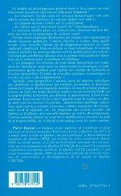 Developpement Et Regionalisation Au Quebec ; Le Temps Du Repli De L'Etat-Nation - 4ème de couverture - Format classique