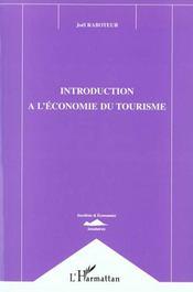 Introduction A L'Economie Du Tourisme - Intérieur - Format classique