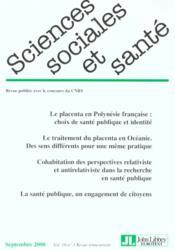 Sciences sociales et sante n.18 - Couverture - Format classique