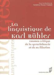 Linguistique de Karl Buhler - Couverture - Format classique