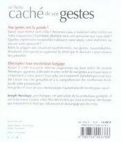 Le sens caché de vos gestes (2e édition) - 4ème de couverture - Format classique