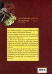 Dictionnaire affectif des plantes (3e édition) - 4ème de couverture - Format classique
