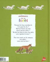 Les animaux de la foret - 4ème de couverture - Format classique
