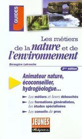 Metiers de la nature et de l'environnement 2e edition (les) - Intérieur - Format classique