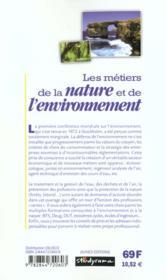 Metiers de la nature et de l'environnement 2e edition (les) - 4ème de couverture - Format classique