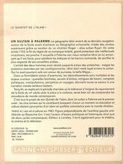Un sultan à Palerme - 4ème de couverture - Format classique