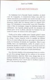 L'Ete Des Fontanilles - 4ème de couverture - Format classique