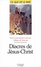 Diacres de Jésus Christ - Couverture - Format classique