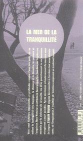 La mer de la tranquillité - 4ème de couverture - Format classique
