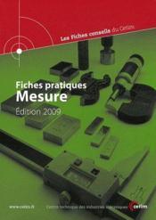 Fiches Pratiques Mesure Edition 2009 Les Fiches Conseils Du Cetim 4c13 - Couverture - Format classique