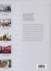 Le journal de la maison : relooking ; avant-après pièce par pièce - 4ème de couverture - Format classique