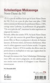 Notre-Dame du Nil - 4ème de couverture - Format classique