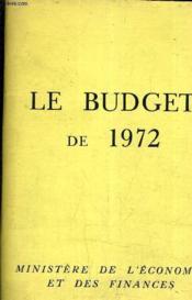 Le Budget De 1972. - Couverture - Format classique