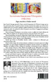 Les écrivains francais sous l'occupation 1940-1944 ; pages arrachées et brûlot mortels - 4ème de couverture - Format classique