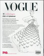 Vogue ; 90 coloriages chics et glamour - 4ème de couverture - Format classique