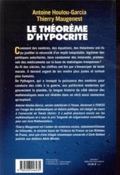 Le theoreme d'Hypocrite ; une histoire de la manipulation par les chiffres de Pythagore à Macron - 4ème de couverture - Format classique