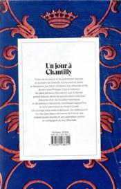 Un jour à Chantilly - 4ème de couverture - Format classique