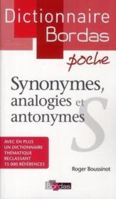 Dictionnaire Bordas poche : synonymes, analogies et antonymes - Couverture - Format classique