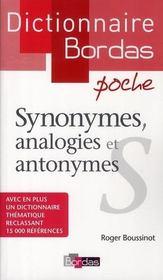 Dictionnaire Bordas poche : synonymes, analogies et antonymes - Intérieur - Format classique