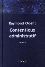 Contentieux administratif t.2 - Intérieur - Format classique