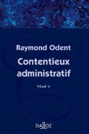 Contentieux administratif t.2 - Couverture - Format classique