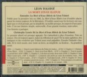 La mort d'Ivan Illitch - 4ème de couverture - Format classique