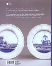La faience europeenne au xviie siecle - le triomphe de delft - 4ème de couverture - Format classique