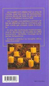 Les bougies - 4ème de couverture - Format classique