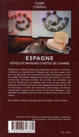 Hôtels et maisons d'hôtes de charme en espagne (édition 2007) - 4ème de couverture - Format classique