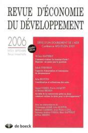 Revue D'Economie Du Developpement N.2/3 ; Défis D'Un Doublement De L'Aide... - Couverture - Format classique