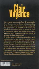 Clair voyance - 4ème de couverture - Format classique