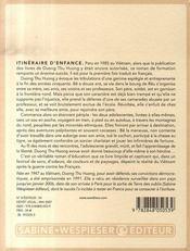Itinéraire D'Enfance - 4ème de couverture - Format classique