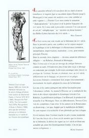 Cornucopia ; figures de l'abondance au XVI siècle: Erasme, Rabelais, Ronsard, Montaigne - 4ème de couverture - Format classique