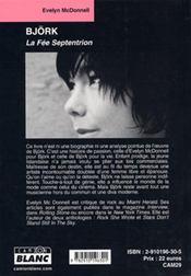 Björk ; la fée septentrion - 4ème de couverture - Format classique
