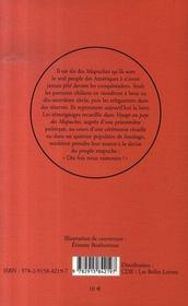 Voyage au pays des mapuches - 4ème de couverture - Format classique