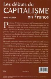 Les débuts du capitalisme en France - 4ème de couverture - Format classique
