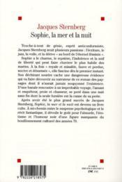 Sophie, la mer et la nuit (édition 2010) - 4ème de couverture - Format classique
