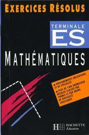Exercices Resolus Mathematiques Terminale Es - Intérieur - Format classique