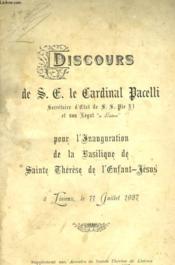 Discours De S.J. Le Cardinal Pacelli - Couverture - Format classique